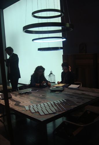 The Henge stand at the international Milan fair, where their new Design Director Massimo Castagna is people take notice of this new high end furniture company.