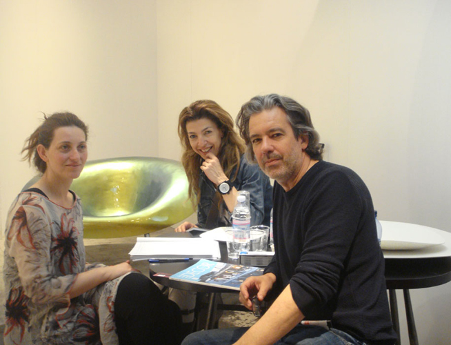 Sculptor Emanuela Ravelli with Architect Pavlos Antoniades and Christiana Markidou talking over a coffee about her's and Verter Turroni's work, art and how these find expression in their furniture. Sometimes practical other times expressive but always provocative their work is unique and nothing else you will ever see.